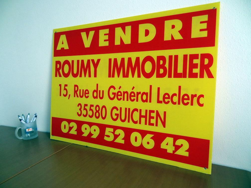 soci t id pub vitr 35 panneau publicitaire pour un maitre d oeuvre rennes 35. Black Bedroom Furniture Sets. Home Design Ideas