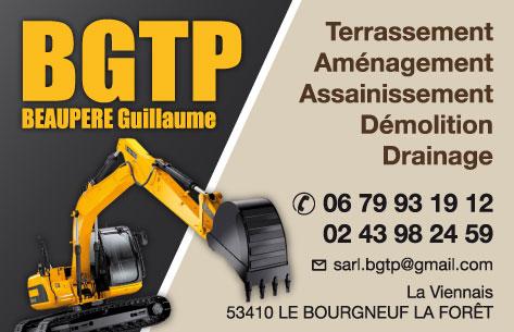 Mise En Page Et Impression Cartes Commerciales Entreprise De Terrassement Departement 53