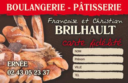 Mise En Page Et Impression Cartes Commerciales Boulanger Patissier A Ernee Departement 53